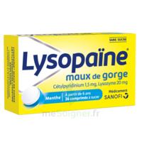 LysopaÏne Comprimés à Sucer Maux De Gorge Sans Sucre 2t/18 à SAINT-JEAN-DE-LIVERSAY
