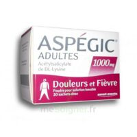 Aspegic Adultes 1000 Mg, Poudre Pour Solution Buvable En Sachet-dose 20 à SAINT-JEAN-DE-LIVERSAY