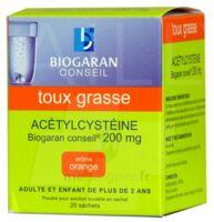 Acetylcysteine Biogaran Conseil 200 Mg Pdr Sol Buv En Sachet B/20 à SAINT-JEAN-DE-LIVERSAY