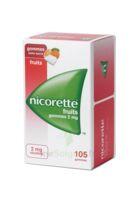 Nicorette 2 Mg Gomme à Mâcher Médicamenteuse Sans Sucre Fruits Plq/105 à SAINT-JEAN-DE-LIVERSAY