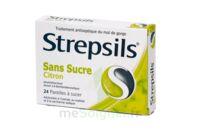 Strepsils Citron Sans Sucre, Pastille édulcorée à L'isomalt, Au Maltitol Et à La Saccharine Sodique à SAINT-JEAN-DE-LIVERSAY