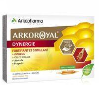 Arkoroyal Dynergie Ginseng Gelée Royale Propolis Solution Buvable 20 Ampoules/10ml à SAINT-JEAN-DE-LIVERSAY