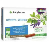 Arkofluide Bio Ultraextract Solution Buvable Détente Sommeil 20 Ampoules/10ml à SAINT-JEAN-DE-LIVERSAY