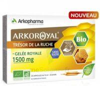 Arkoroyal Gelée Royale Bio Sans Sucre 1500mg Solution Buvable 20 Ampoules/10ml à SAINT-JEAN-DE-LIVERSAY