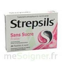 Strepsils Fraise Sans Sucre, Pastille édulcorée à L'isomalt, Au Maltitol Et à La Saccharine Sodique à SAINT-JEAN-DE-LIVERSAY