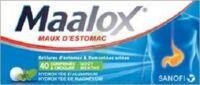 Maalox Hydroxyde D'aluminium/hydroxyde De Magnesium 400 Mg/400 Mg Cpr à Croquer Maux D'estomac Plq/40 à SAINT-JEAN-DE-LIVERSAY