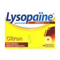 LysopaÏne Ambroxol 20 Mg Pastilles Maux De Gorge Sans Sucre Citron Plq/18 à SAINT-JEAN-DE-LIVERSAY