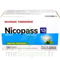 Nicopass 1,5 Mg Pastille Sans Sucre Menthe Fraîcheur Plq/96 à SAINT-JEAN-DE-LIVERSAY