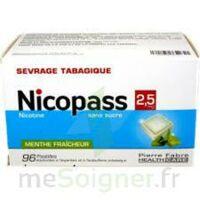Nicopass 2,5 Mg Pastille Menthe Fraîcheur Sans Sucre Plq/96 à SAINT-JEAN-DE-LIVERSAY