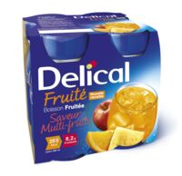 Delical Boisson Fruitee Nutriment Multi Fruits 4bouteilles/200ml à SAINT-JEAN-DE-LIVERSAY