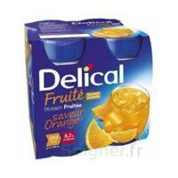 Delical Boisson Fruitee Nutriment Orange 4bouteilles/200ml à SAINT-JEAN-DE-LIVERSAY