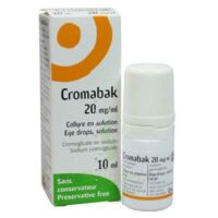 Cromabak 20 Mg/ml, Collyre En Solution à SAINT-JEAN-DE-LIVERSAY