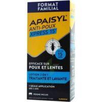 Apaisyl Anti-poux Xpress 15' Lotion Antipoux Et Lente 100ml+peigne à SAINT-JEAN-DE-LIVERSAY
