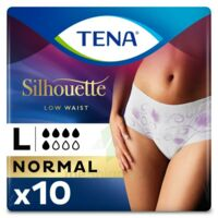 Tena Lady Silhouette Slip Absorbant Blanc Normal Large Paquet/10 à SAINT-JEAN-DE-LIVERSAY